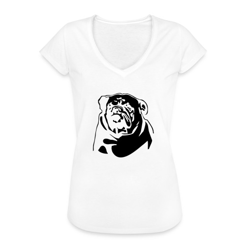 English Bulldog - negative - Naisten vintage t-paita