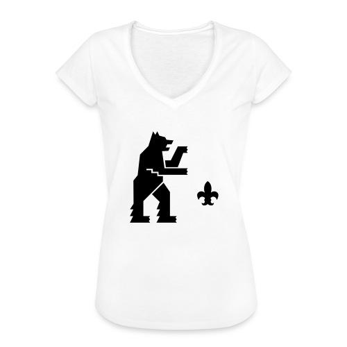 hemelogovektori - Naisten vintage t-paita