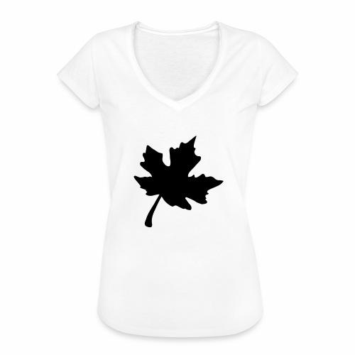 Ahorn Blatt - Frauen Vintage T-Shirt