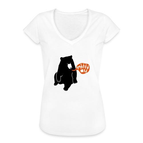Bär sagt Miau - Frauen Vintage T-Shirt