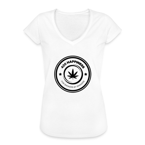 420_Happiness_logo - Dame vintage T-shirt