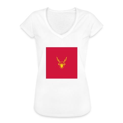 scimmiacervo sfondo rosso - Maglietta vintage donna
