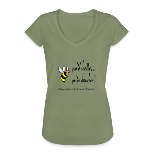 Pas d'abeille, pas de chouchen - T-shirt vintage Femme