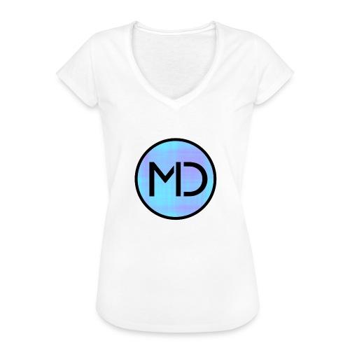 MD Blue Fibre Trans - Women's Vintage T-Shirt