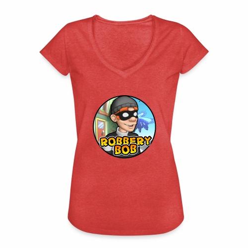 Robbery Bob Button - Women's Vintage T-Shirt