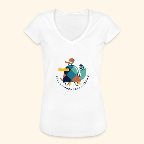 Tartaruga e uccellino - Maglietta vintage donna