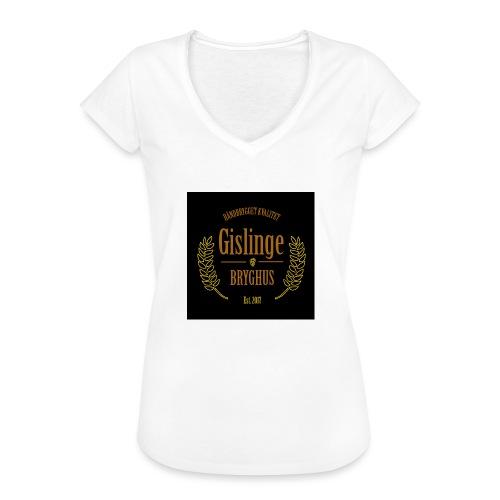 Sort logo 2017 - Dame vintage T-shirt