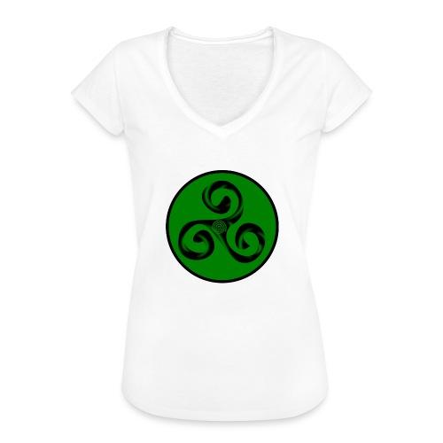Triskel and Spiral - Camiseta vintage mujer