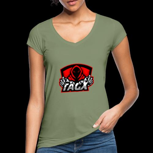 TagX Logo with red borders - Naisten vintage t-paita