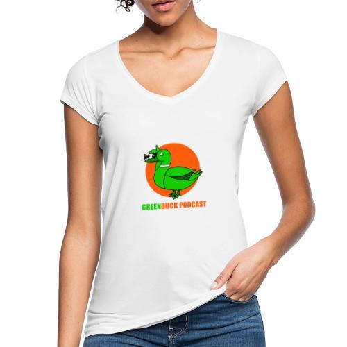 Greenduck Podcast Logo - Dame vintage T-shirt