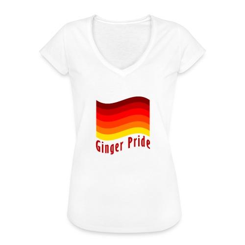 Ginger Pride flag Dark png - Women's Vintage T-Shirt