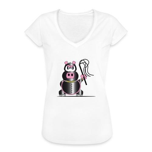 Schweinchen Sado - Frauen Vintage T-Shirt
