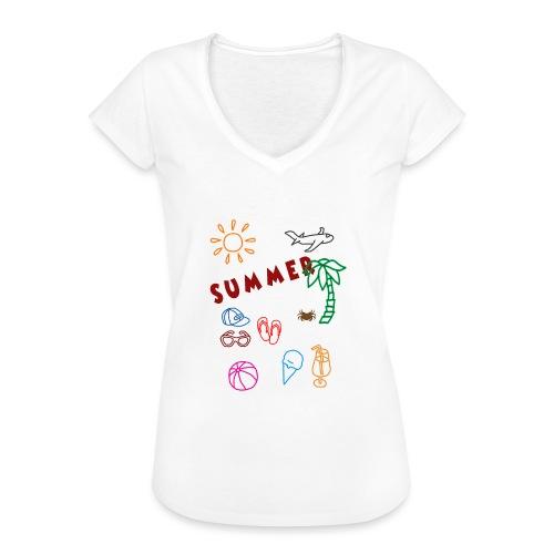 Summer - Naisten vintage t-paita