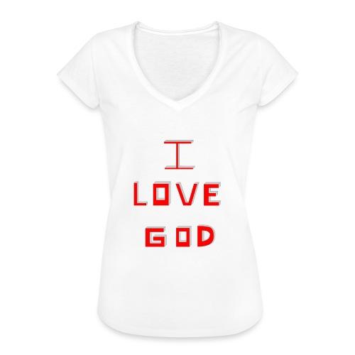I LOVE GOD - Camiseta vintage mujer