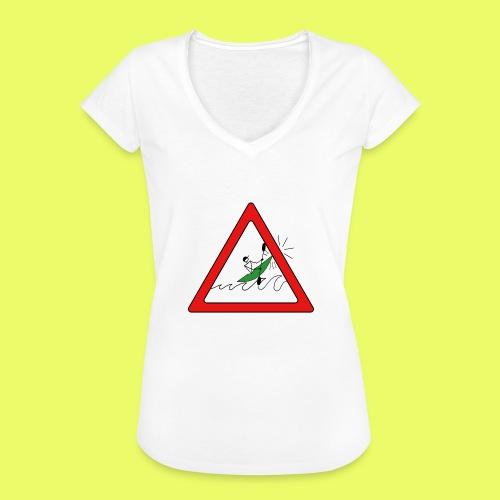Kajak Unfall im Dreieck - Frauen Vintage T-Shirt