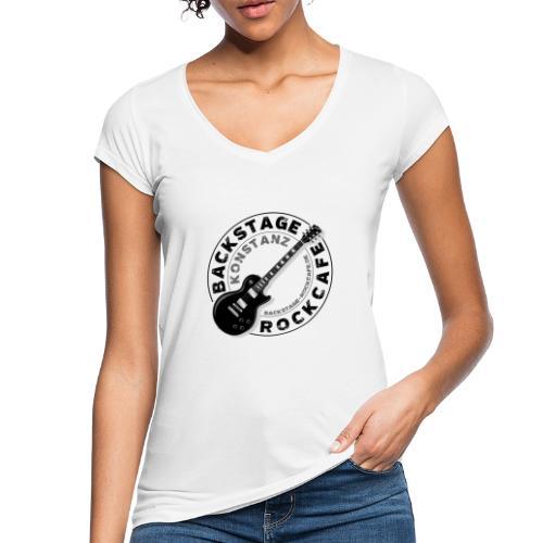 Backstage Logo einfach Schwarz - Frauen Vintage T-Shirt
