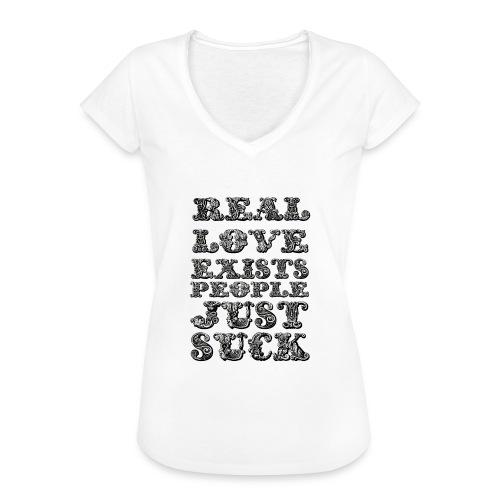 Real Love Exists REBEL INC. - Koszulka damska vintage