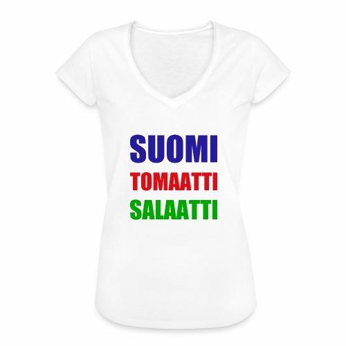 SUOMI SALAATTI tomater - Vintage-T-skjorte for kvinner