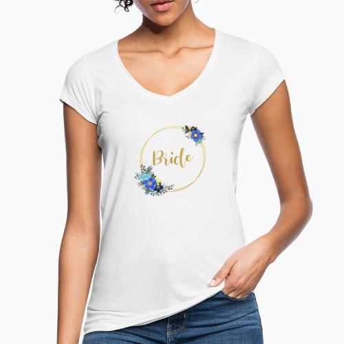 Bride - golden wreath / golden wreath - Women's Vintage T-Shirt