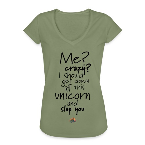 Crazy Unicorn Style (Dark) - Women's Vintage T-Shirt