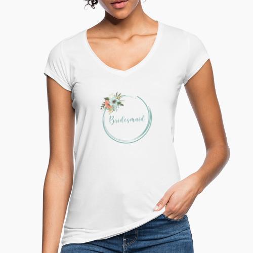 Bridesmaid - floral motif in blue - Women's Vintage T-Shirt