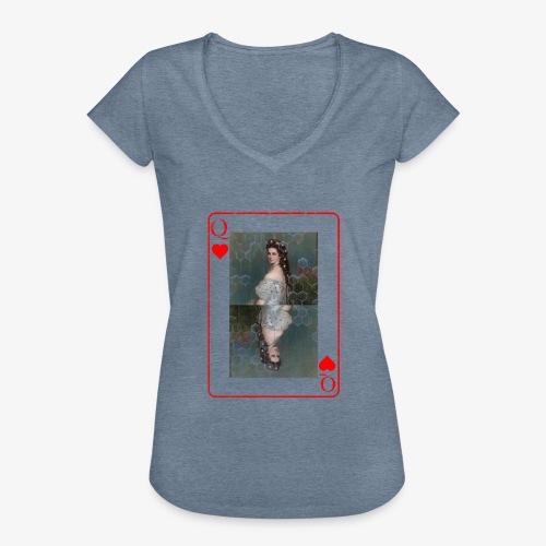 Kaiserin Sissi spielkarte Österreich - Frauen Vintage T-Shirt
