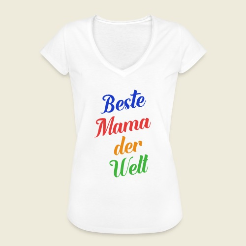 Beste Mama der Welt schön bunt - Frauen Vintage T-Shirt