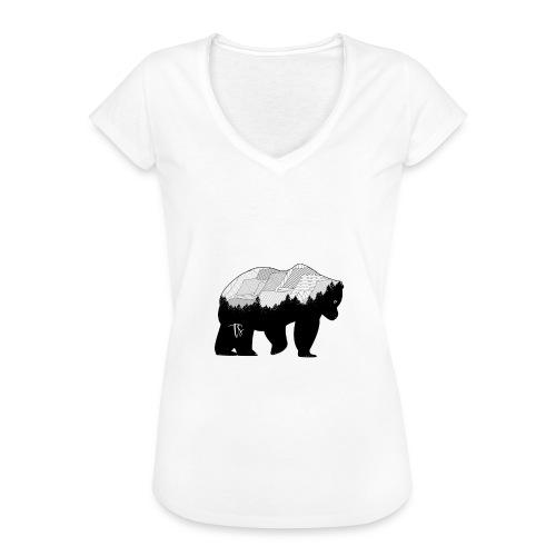Geometric Mountain Bear - Maglietta vintage donna