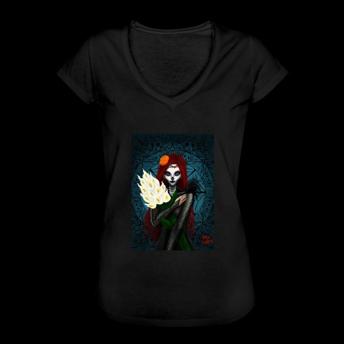 Death and lillies - Women's Vintage T-Shirt