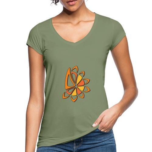 spicchi di sole caldo multicolore - Maglietta vintage donna