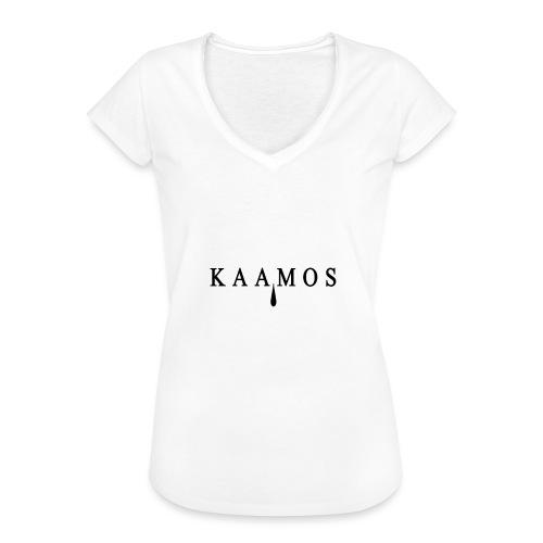 kaamos teksti png - Naisten vintage t-paita
