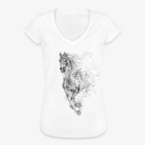 Vorschau: pixel black horse - Frauen Vintage T-Shirt