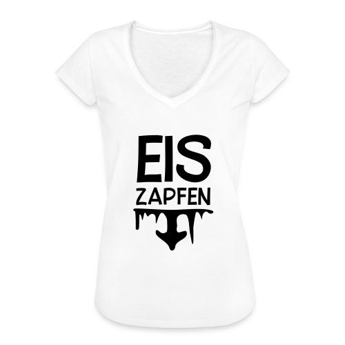 Skishirt Eiszapfen - Frauen Vintage T-Shirt