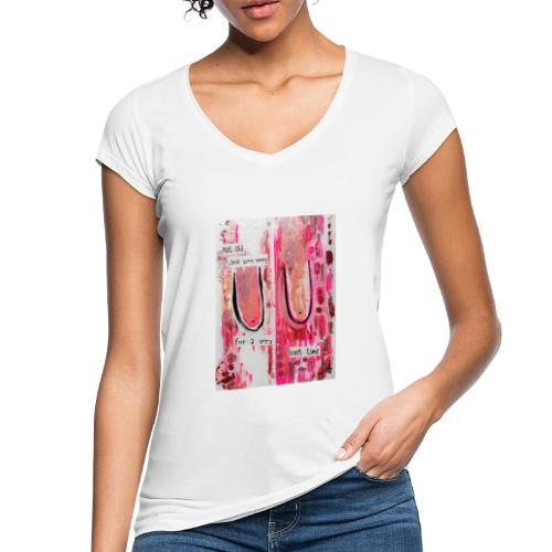 BOOBS print white - Vintage-T-skjorte for kvinner