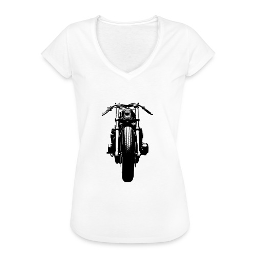 Motorcycle Front - Women's Vintage T-Shirt