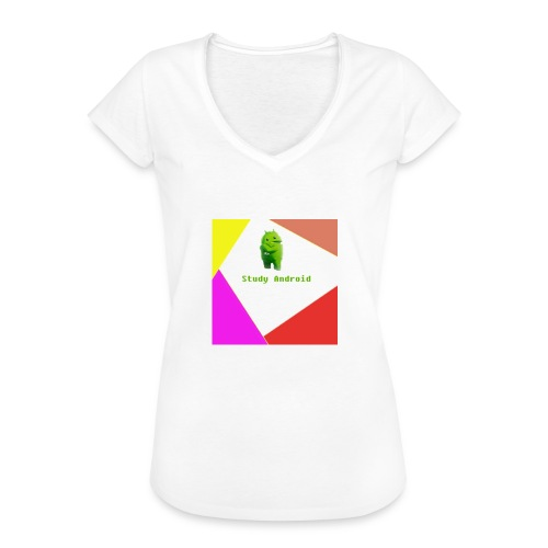 Study Android - Camiseta vintage mujer
