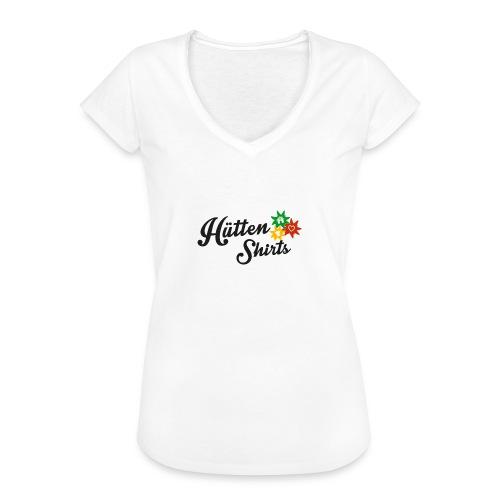 huettenshirts small freigestellt png - Frauen Vintage T-Shirt