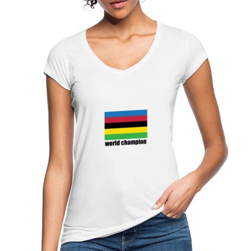world champion cycling stripes - Vrouwen Vintage T-shirt