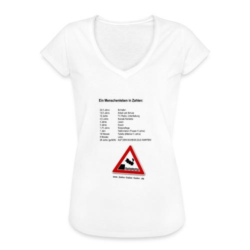 Menschenleben in Zahlen - Frauen Vintage T-Shirt