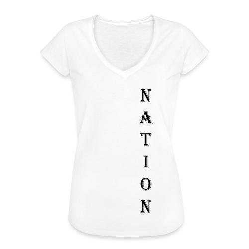 Nation - Vrouwen Vintage T-shirt