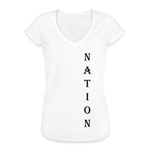 Nation - Vrouwen Vintage T-shirt