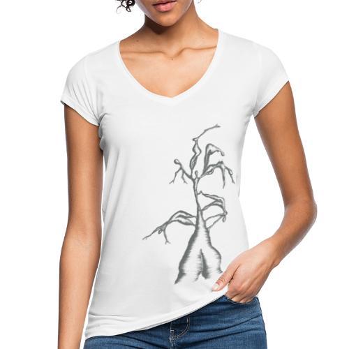 Die Zerrissenheit in grau - Frauen Vintage T-Shirt