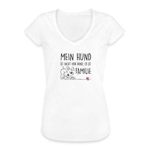 Vorschau: Mein Hund ist Familie - Frauen Vintage T-Shirt