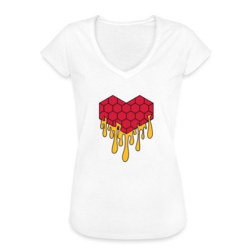 Honey heart cuore miele radeo - Maglietta vintage donna