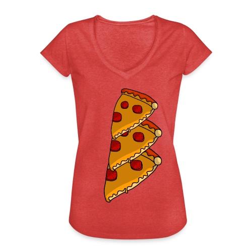 pizza - Dame vintage T-shirt