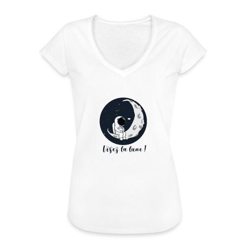Visez la lune ! - T-shirt vintage Femme