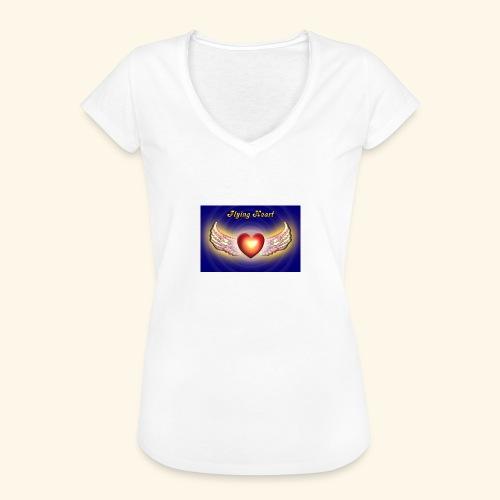 Flying Heart - Frauen Vintage T-Shirt