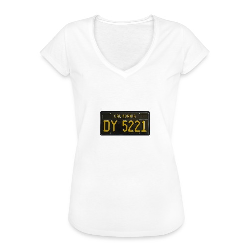 CALIFORNIA BLACK LICENCE PLATE - Women's Vintage T-Shirt