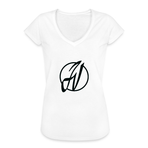 JV Guitars - logo noir - T-shirt vintage Femme