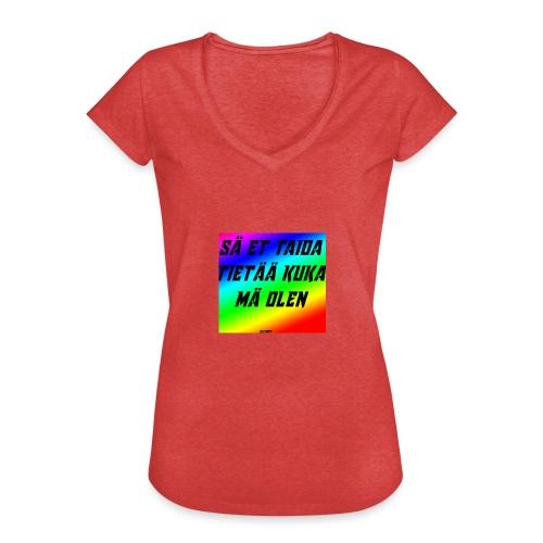kuka olen - Naisten vintage t-paita
